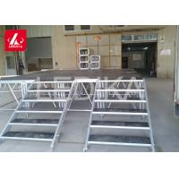 Adjustable Aluminum Alloy Lift Stage Stairs / Lifting And Folding Stage Platform Manufactures