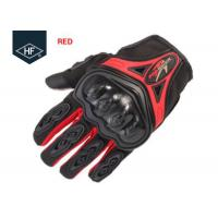 Riding Aftermarket Motorcycle Accessories Red Blue Touch Finger Full Finger Motorcycle Gloves Manufactures