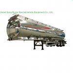 Aluminum Alloy Fuel Tank Semi Trailer 45000L ~50000L With Air Bag Suspension Manufactures