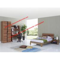 Children School bedroom furniture suite by double size bed and bookcase sets in MDF melamine Manufactures