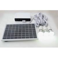 20W/14AH Li-ion lithium battery solar home power system with LED 3W bulbs switch cable Manufactures