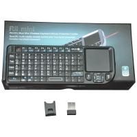 China Rii Mini 2.4G Wireless Keyboard With Touchpad& Laser Pointer (Taiwan Layout) Rechargeable Li-ion RT-MWK01 on sale