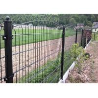 656 / 868 Double Wire Mesh Fence , Wire Fence Gate Round Post 50MM Manufactures