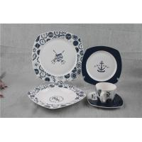 China 20pcs Special Bone China Dinnerware Sets Square Shape With Captain Design on sale