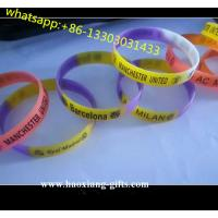 cheap custom silicone bracelets no minimum with debossed color slicone wristbands Manufactures