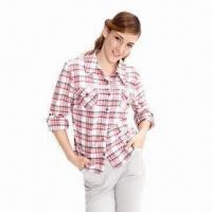 China Women's shirt, made of 100% cotton, yarn-dyed poplin on sale