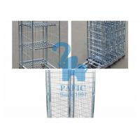 China Electroplating Steel Nestable Roll Containers , Four Wheels Security Storage Cage on sale