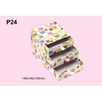 China Personalized Colorful Offset Printing Paper Gift Storage Box With Three Drawer on sale