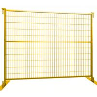 Canada Temporary Mesh Fencing , Building Site Fencing With Plastic Feet And Iron Feet Manufactures