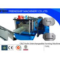 15-20 MPa Hydraulic Pressure C Z Purlin Roll Forming Machine With Transmission Manufactures