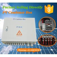 Quality IP65 Outdoor Convergence Solar PV Combiner Box(8 in 1 out) for sale