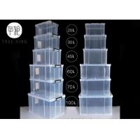 32 Liters Clear Plastic Foldable Container , Food Grade Plastic Stacking Crates Manufactures