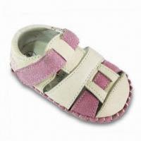 Girl's Leather Shoe with Pink Cow Suede Upper and Mesh Lining + Insole Manufactures