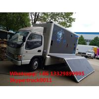 China China famous JAC brand 4*2 P6 outdoor mobile LED advertising truck for sale, hot sale JAC P6 LED billboard vehicle on sale