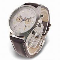 Chronograph Watch with Stainless Steel Case and Japan Quartz Analog Movement Manufactures