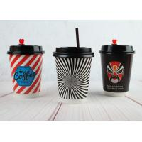 Disposable Insulated Coffee Cups Double Wall Printed Cups With Lids Manufactures