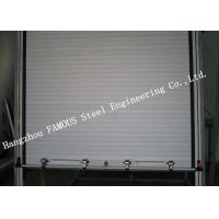 Light Aluminum Doors Overhead Metal Roll Up Doors Low Noise Heat Insulation Type Manufactures