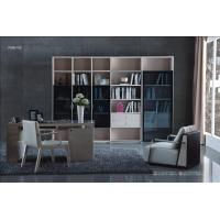 Cheap Apartment room Fashion Home office Furniture Study Computer Reading table and Glass door bookcase with wood Shelve Manufactures