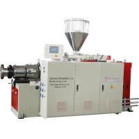 SJSZ80 Plastic Conical Twin Screw Extruder PVC Pipe Extrusion Line Manufactures
