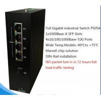 Buy cheap 5 Ports Full Gigabit Unmanaged PoE Industrial Ethernet Switch P505A from wholesalers