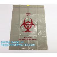 Drawstring medical biohazard waste disposal supplies LDPE plastic autoclave bags, Trash Bin Liner Bags Biohazard Waste P Manufactures