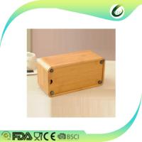Home decoration table desk bamboo tissue box Manufactures
