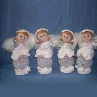 Angels Design Christmas Craft with Hand Painted, Made of Polyresin and Porcelain Manufactures