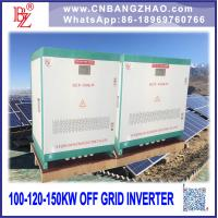 Big Power 100kw Stand Alone System Hybrid Inverter with AC bypass Input Manufactures