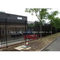 Triple Pointed Steel Picket Palisade Fencing And Gates For Train Station Easily Assembled Manufactures