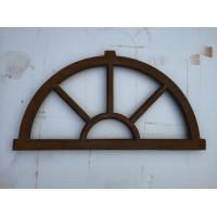 Buy cheap Old Cast Iron Antique Window Frames For Lighting French Style H36xW67CM from wholesalers
