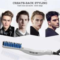 Newest Electric Men hair styler straightening brush portable Beard straightener personalized hair comb online Manufactures