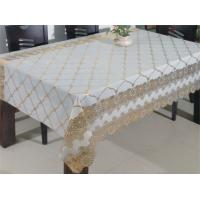 China Golden Coated Vinyl Lace Table Cloth on sale