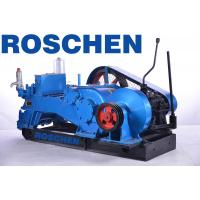 Industrial Flushing Piston Mud Pump / Horizontal Triplex Drilling Rig Mud Pumps Manufactures