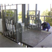 China 1.5kw-12kw Vertical Cargo Lift platform double-side guide rail on sale