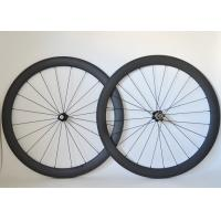 T700 Road Bike Carbon Cycling Wheels 20 / 24 Spoke Holes And Basalt Brake Surface Manufactures