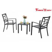 China Patio Metal Arm Chairs Outdoor Garden Furniture Indoor Dining Chairs Set on sale