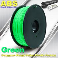 Customized Green1.75mm / 3.0mm 1.0KgG / roll ABS 3D Printer Filament Manufactures