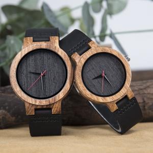 Leisure Quartz Wrist Watch For Boy Natural Zebra Wood Creative Casual Style Manufactures