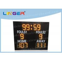 Different Sports LED Electronic Scoreboard Outdoor Front Glass Board UV Protection Manufactures