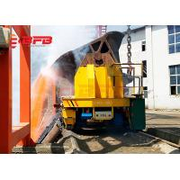 China High Temperature Proof Material Handling Trolley , Molten Metal Motorized Rail Cart Anti Explosion on sale