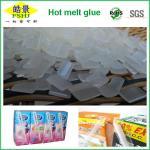 EVA Resin Hot Melt Adhesive / Book Binding Adhesive Glue For Straw Drinking Box Manufactures