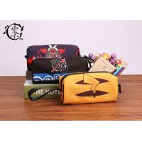 China Pokemon Pikachu Zipper Pencil Case , Waterproof Travel Makeup Canvas Pencil Holder on sale