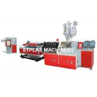 China Plastic Single Wall Corrugated Pipe Making Machine / Corrugated Pipe Extruder on sale