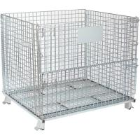 China Powder Coated Wire Mesh Container  With Reinforced Under Structure on sale