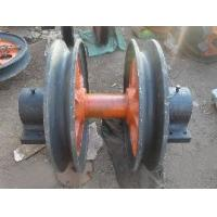 heavy equipment hoist trolley pulley wheel for crane Manufactures