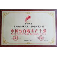 Shanghai Liangjiang Titanium White Product Co., Ltd. Certifications