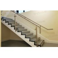 Side Mounted Stainless Steel Post Glass Railing For Staircase Railing Manufactures