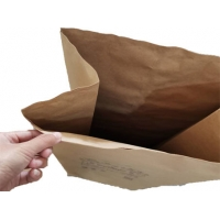 China 25 paper yard waste bag brown 2 ply bio-degradable Outdoor large kraft paper bag to clean the fallen leaves on sale