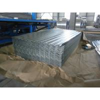 0.15-1.5mm Thickness Galvanized Corrugated Roofing Sheet , ASTM A653 Manufactures