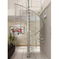 Modern customized tempered glass spiral staircase stainless steel Manufactures
